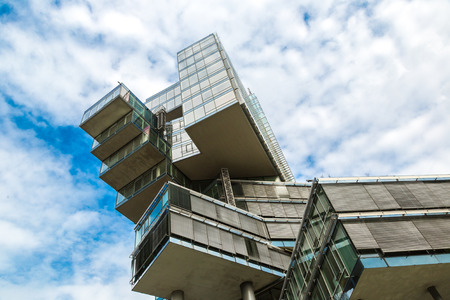 HANNOVER, GERMANY - JUNE 11, 2016: Modern skyscraper, Nord Landesbank in Hannover in a beautiful summer day, Germany on June 11, 2016