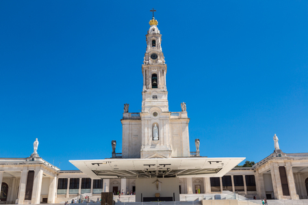 FATIMA, PORTUGAL - JUNE 27, 2016: The Sanctuary of Fatima in a beautiful summer day, Portugal on June 27, 2016