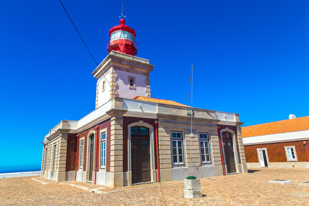 Lighthouse in the Western point of Europe - Cabo da Roca, Portugal in a beautiful summer day