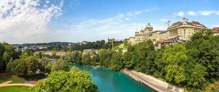 Federal view of Switzerland in Bern in a beautiful summer day, Switzerland