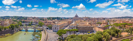 Basilica of St. Peter in a summer day in Vatican Фото со стока