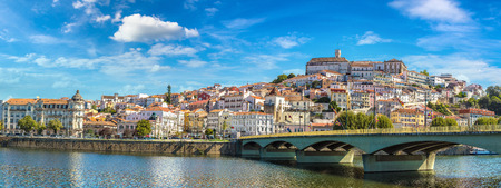 Old city Coimbra, Portugal in a beautiful summer day Stock Photo