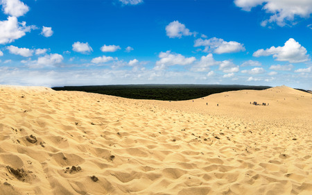 Dune of Pilat (Dune du Pyla) - the tallest sand dune in Europe, Arcachon Bay, Aquitaine, France, Atlantic Ocean
