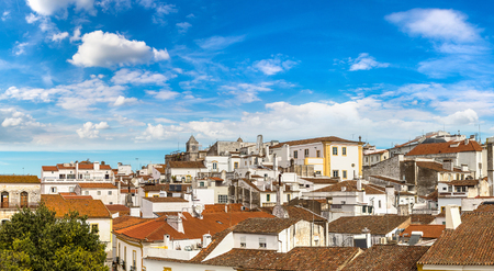 Cityscape of Evora, Portugal in a beautiful summer day