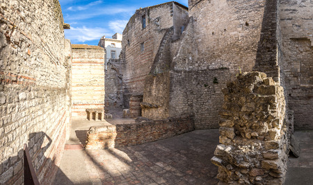 constantin: Thermes de Constantin (bath house) in Arles, France in a beautiful summer day Stock Photo