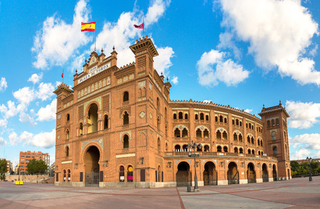 Las Ventas Tour - Famous bullfighting arena in Madrid, Spain in a beautiful summer day