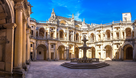 convento: Medieval Templar castle in Tomar in a beautiful summer day, Portugal