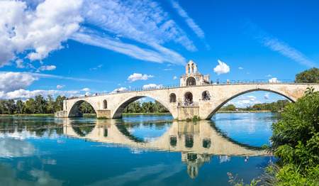 Saint Benezet bridge in Avignon in a beautiful summer day, France Stock Photo