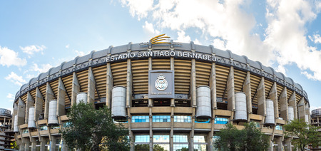 MADRID, SPAIN - JULY 25, 2017: Santiago Bernabeu Stadium of Real Madrid in Madrid, Spain in a beautiful summer day