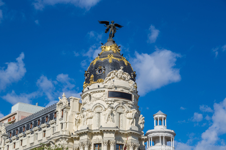 Metropolis hotel in Madrid in a beautiful summer day  in Madrid, Spain