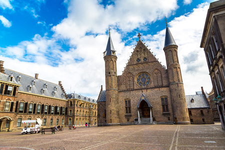Binnenhof palace, dutch parliament in Hague in a   beautiful summer day, The Netherlands Stock Photo