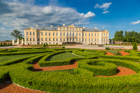 Garden in Rundale Palace in a beautiful summer day, Latvia Stock fotó - 89457823