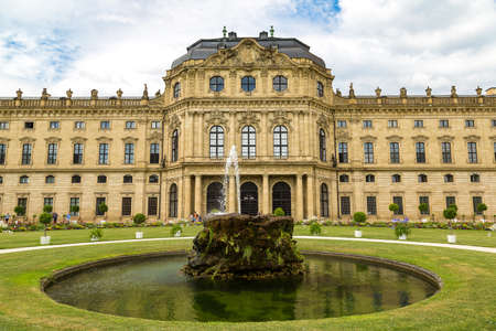 residenz: Residenze Palace in Wurzburg in a beautiful summer day, Germany Stock Photo