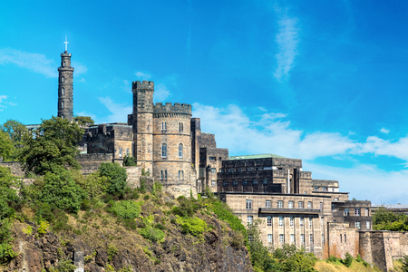 Governors House on Calton Hill in Edinburgh in a beautiful summer day, Scotland, United Kingdom
