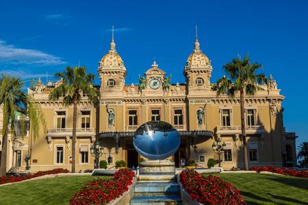 MONTE CARLO, MONACO - JUNE 15, 2016: The grand casino in Monte Carlo in a beautiful summer day, Monaco on June 15, 2016