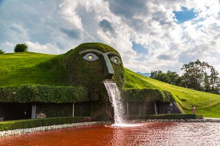 INNSBRUCK, AUSTRIA - JULY 25, 2017: Swarovski crystal worlds (Kristallwelten) museum in a beautiful summer day, Austria