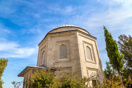 Tomb of Suleymans wife Hurrem in Istanbul, Turkey in a beautiful summer day
