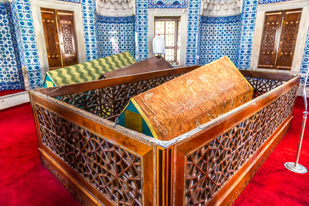 ISTANBUL, TURKEY - JULY 26, 2017: Tomb of Suleymans wife Hurrem in Istanbul, Turkey in a beautiful summer day Editorial