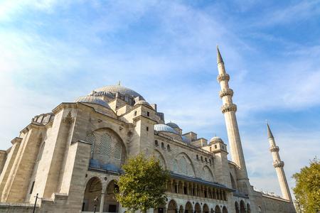 Suleymaniye Mosque in Istanbul, Turkey in a beautiful summer day