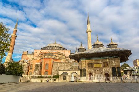 Hagia Sophia in Istanbul, Turkey in a beautiful summer day Stock Photo