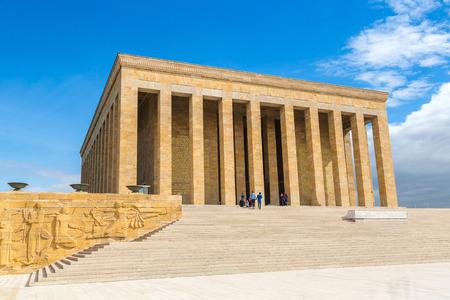 Anitkabir, 아름 다운 여름날에 터키, 앙카라, 아타튀르크 영묘 스톡 콘텐츠