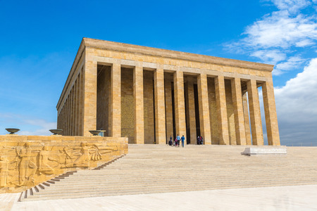 Anitkabir, mausoleum of Ataturk, Ankara, Turkey in a beautiful summer day Banco de Imagens
