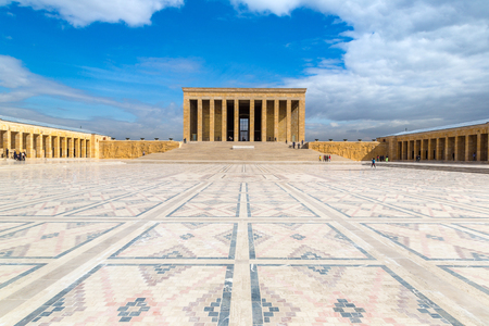 Anitkabir, mausoleum of Ataturk, Ankara, Turkey in a beautiful summer day Stock Photo