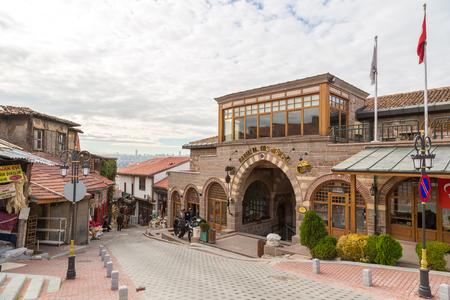 ANKARA, TURKEY - JULY 29, 2017: Old market (bazar) street in Ankara, Turkey in a beautiful summer day Editorial