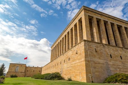 Anitkabir, mausoleum van Ataturk, Ankara, Turkije in een mooie de zomerdag Stockfoto