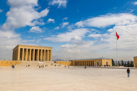 Anitkabir, mausoleum of Ataturk, Ankara, Turkey in a beautiful summer day 스톡 콘텐츠