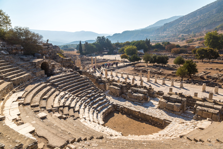 Odeon - small theater in ancient city Ephesus, Turkey in a beautiful summer day Stock fotó