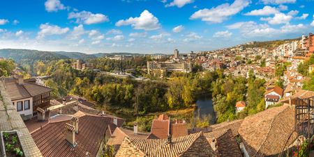 Veliko Tarnovo in a beautiful summer day, Bulgaria