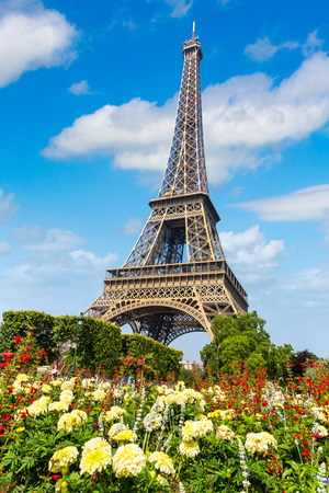 The Eiffel Tower in Paris, France in a beautiful summer day Reklamní fotografie