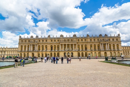 VERSAILLES, FRANCE - August 7, 2014: Famous palace Versailles, France in a summer day