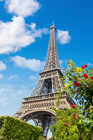The Eiffel Tower in Paris, France in a beautiful summer day Stock fotó