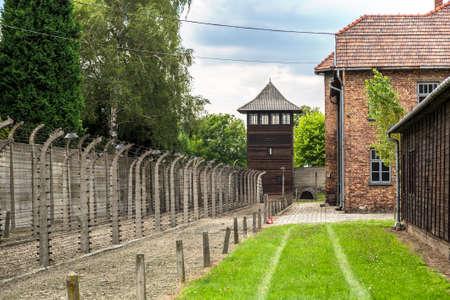 여름철 폴란드의 독일 수용소 아우 슈비츠