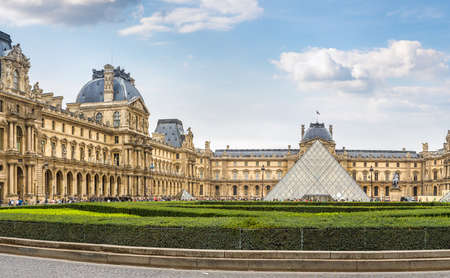 The Louvre in Paris in a summer day