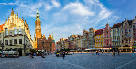 WROCLAW, POLAND - JULY 29, 2017: Old City Hall in Wroclaw, Poland in a summer day