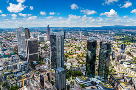 Summer panorama of the financial district in Frankfurt, Germany in a summer day Фото со стока - 89986878