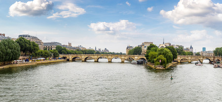 Seine and Notre Dame de Paris, France in a summer day