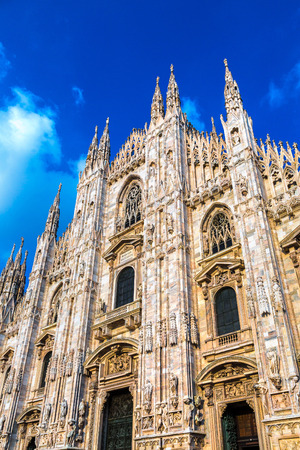 Famous Milan Cathedral, Duomo in a beautiful summer day in Milan, Italy Stock fotó