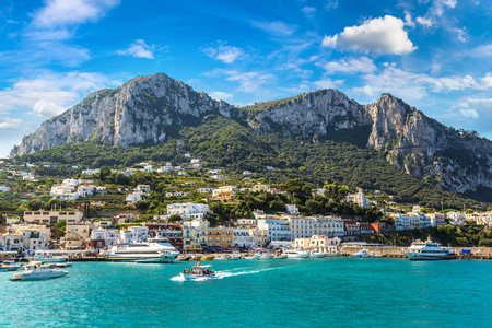 Capri island in a beautiful summer day in Italy Stock Photo - 89987238