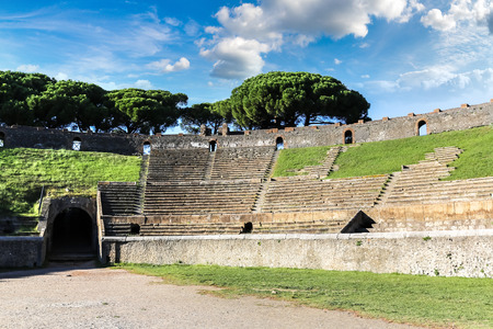 Stadium in Pompeii city  destroyed  in 79BC by the eruption of Mount Vesuvius