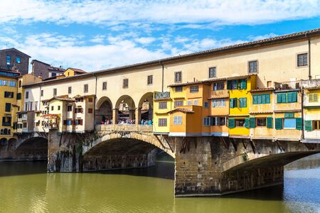 The Ponte Vecchio in Florence in a summer day in Italy