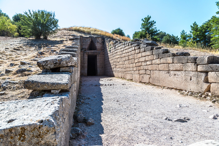 Treasury of Atreus in a summer day in Mycenae, Greece Reklamní fotografie
