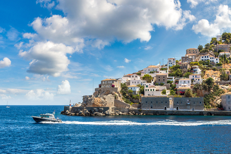 Hydra island in a summer day in Greece