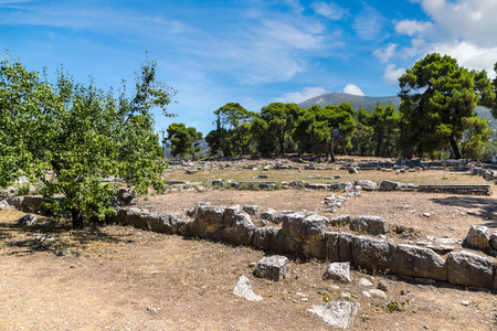 Ruins of ancient temple in Epidavros, Greece in a summer day Reklamní fotografie