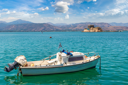 Bourtzi fortress in Greece, Nafplion in a beautiful summer day Reklamní fotografie