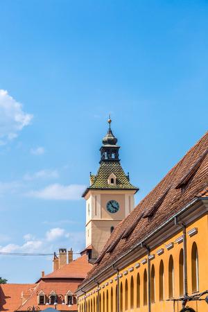 City Hall in Brasov in a summer day, Transylvania, Romania