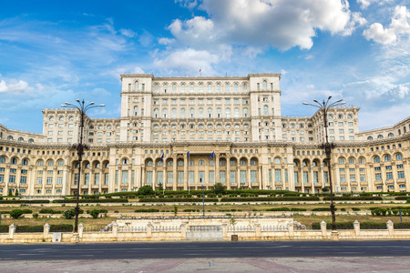 The Palace of the Parliament in a summer day in Bucharest, Romania